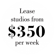 Lease Studios From $350 per week