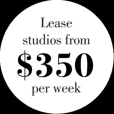 Lease Studios From $350 per week